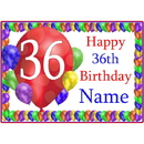 Partypro BANNER-PM36THBB 36Th Balloon Blast Customized Placemat