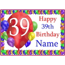 Partypro BANNER-PM39THBB 39Th Balloon Blast Customized Placemat