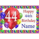 Partypro BANNER-PM44THBB 44Th Balloon Blast Customized Placemat