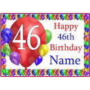 Partypro BANNER-PM46THBB 46Th Balloon Blast Customized Placemat