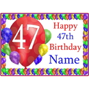 Partypro BANNER-PM47THBB 47Th Balloon Blast Customized Placemat