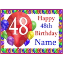 Partypro BANNER-PM48THBB 48Th Balloon Blast Customized Placemat