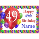 Partypro BANNER-PM49THBB 49Th Balloon Blast Customized Placemat