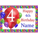 Partypro BANNER-PM4THBB 4Th Balloon Blast Customized Placemat