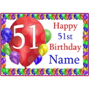 Partypro BANNER-PM51STBB 51St Balloon Blast Customized Placemat