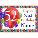 Partypro BANNER-PM52NDBB 52Nd Balloon Blast Customized Placemat