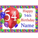 Partypro BANNER-PM54THBB 54Th Balloon Blast Customized Placemat