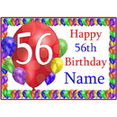 Partypro BANNER-PM56THBB 56Th Balloon Blast Customized Placemat