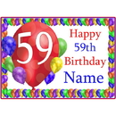 Partypro BANNER-PM59THBB 59Th Balloon Blast Customized Placemat