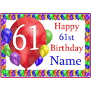 Partypro BANNER-PM61STBB 61St Balloon Blast Customized Placemat