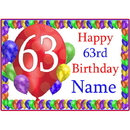 Partypro BANNER-PM63RDBB 63Rd Balloon Blast Customized Placemat