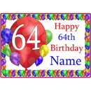 Partypro BANNER-PM64THBB 64Th Balloon Blast Customized Placemat