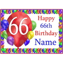 Partypro BANNER-PM66THBB 66Th Balloon Blast Customized Placemat