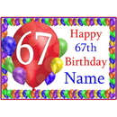 Partypro BANNER-PM67THBB 67Th Balloon Blast Customized Placemat