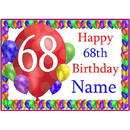 Partypro BANNER-PM68THBB 68Th Balloon Blast Customized Placemat