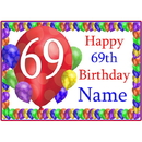 Partypro BANNER-PM69THBB 69Th Balloon Blast Customized Placemat