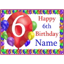 Partypro BANNER-PM6THBB 6Th Balloon Blast Customized Placemat