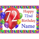 Partypro BANNER-PM72NDBB 72Nd Balloon Blast Customized Placemat