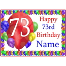 Partypro BANNER-PM73RDBB 73Rd Balloon Blast Customized Placemat