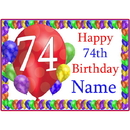 Partypro BANNER-PM74THBB 74Th Balloon Blast Customized Placemat