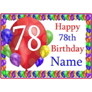 Partypro BANNER-PM78THBB 78Th Balloon Blast Customized Placemat
