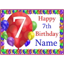 Partypro BANNER-PM7THBB 7Th Balloon Blast Customized Placemat