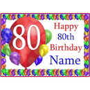 Partypro BANNER-PM80THBB 80Th Balloon Blast Customized Placemat