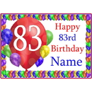 Partypro BANNER-PM83RDBB 83Rd Balloon Blast Customized Placemat