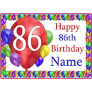 Partypro BANNER-PM86THBB 86Th Balloon Blast Customized Placemat