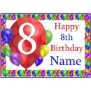 Partypro BANNER-PM8THBB 8Th Balloon Blast Customized Placemat