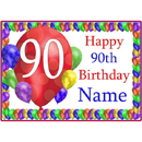 Partypro BANNER-PM90THBB 90Th Balloon Blast Customized Placemat