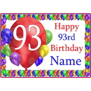 Partypro BANNER-PM93RDBB 93Rd Balloon Blast Customized Placemat