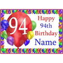 Partypro BANNER-PM94THBB 94Th Balloon Blast Customized Placemat