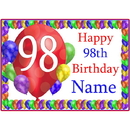 Partypro BANNER-PM98THBB 98Th Balloon Blast Customized Placemat