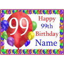 Partypro BANNER-PM99THBB 99Th Balloon Blast Customized Placemat