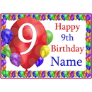 Partypro BANNER-PM9THBB 9Th Balloon Blast Customized Placemat