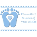 Partypro BANNER-PMBABYTO Blue Baby Toes Customized Placemat
