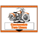 Partypro BANNER-PMHARLEY Hawg - Motorcycle Placemat