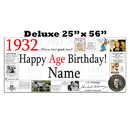 Partypro BANNER-X1932 1932 Deluxe Personalized Banner