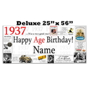 Partypro BANNER-X1937 1937 Deluxe Personalized Banner