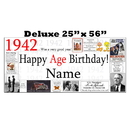 Partypro BANNER-X1942 1942 Deluxe Personalized Banner