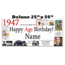 Partypro BANNER-X1947 1947 Deluxe Personalized Banner