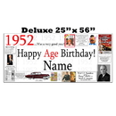 Partypro BANNER-X1952 1952 Deluxe Personalized Banner