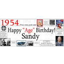 Partypro BANNER-X1954 1954 Deluxe Personalized Banner