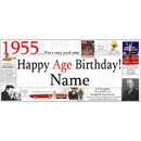 Partypro BANNER-X1955 1955 Deluxe Personalized Banner