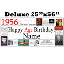 Partypro BANNER-X1956 1956 Deluxe Personalized Banner