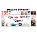 Partypro BANNER-X1957 1957 Deluxe Personalized Banner