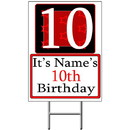 Partypro BANNER-Y10 Personalized 10 Year Old Yard Sign