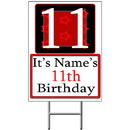 Partypro BANNER-Y11 Personalized 11 Year Old Yard Sign