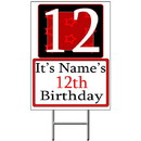 Partypro BANNER-Y12 Personalized 12 Year Old Yard Sign